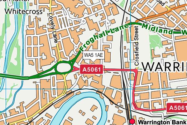WA5 1AE map - OS VectorMap District (Ordnance Survey)