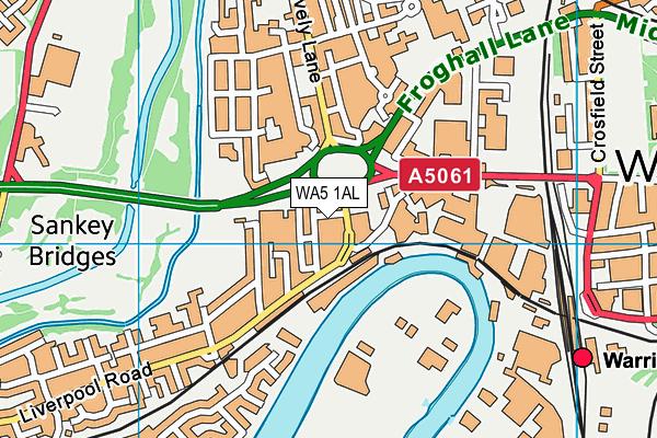 WA5 1AL map - OS VectorMap District (Ordnance Survey)
