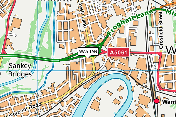 WA5 1AN map - OS VectorMap District (Ordnance Survey)