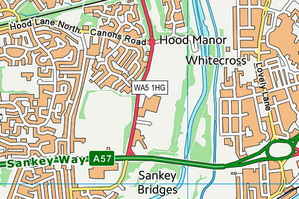 St Gregorys Catholic High School map (WA5 1HG) - OS VectorMap District (Ordnance Survey)