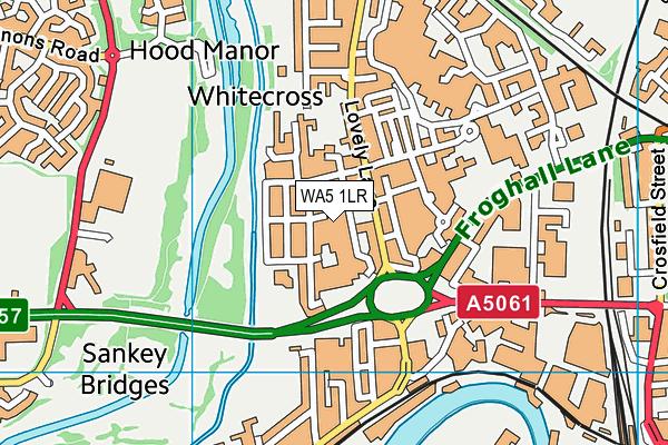 WA5 1LR map - OS VectorMap District (Ordnance Survey)