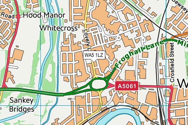 WA5 1LZ map - OS VectorMap District (Ordnance Survey)