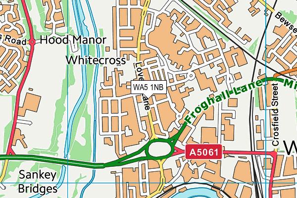 WA5 1NB map - OS VectorMap District (Ordnance Survey)