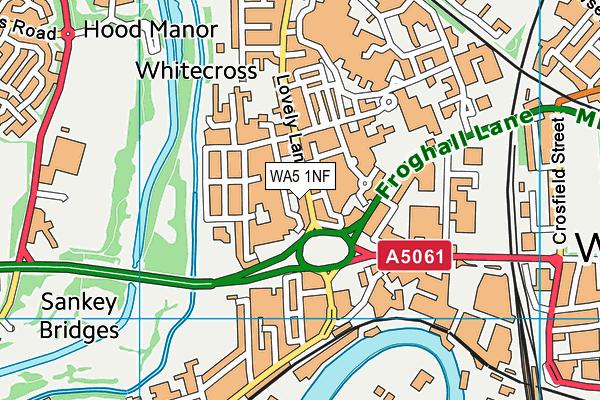 WA5 1NF map - OS VectorMap District (Ordnance Survey)