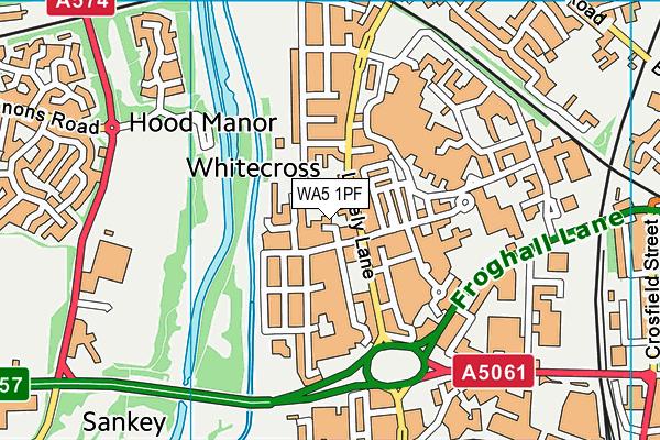 WA5 1PF map - OS VectorMap District (Ordnance Survey)