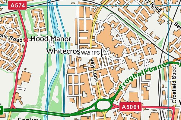 WA5 1PG map - OS VectorMap District (Ordnance Survey)