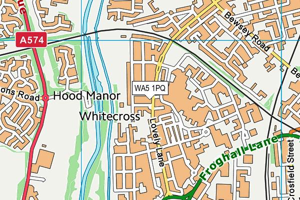 WA5 1PQ map - OS VectorMap District (Ordnance Survey)