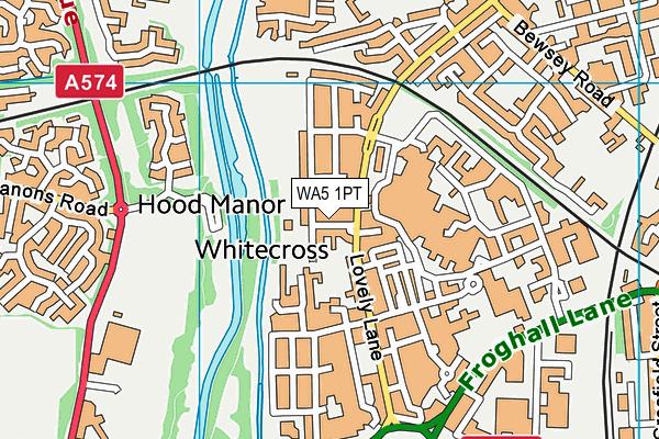 Whitecross Community Centre map (WA5 1PT) - OS VectorMap District (Ordnance Survey)