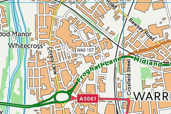 WA5 1ST map - OS VectorMap District (Ordnance Survey)
