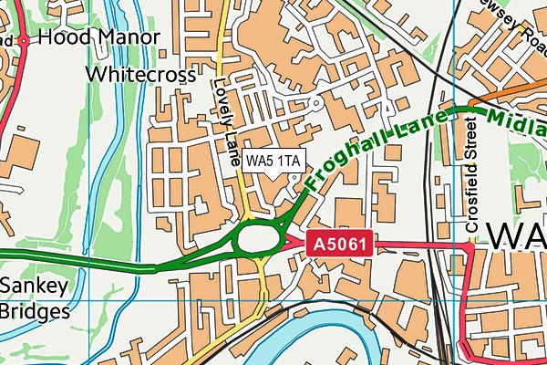 WA5 1TA map - OS VectorMap District (Ordnance Survey)
