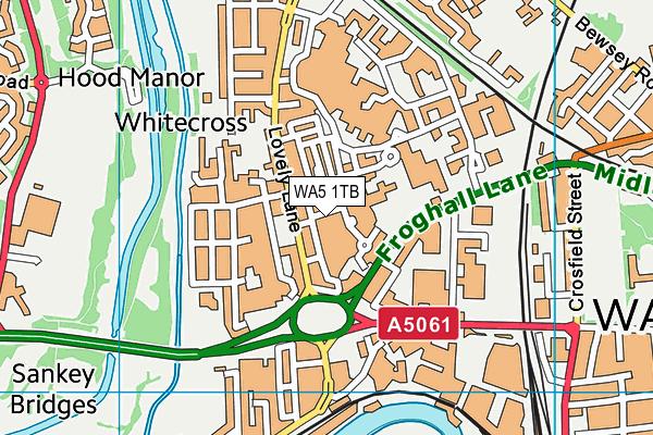 WA5 1TB map - OS VectorMap District (Ordnance Survey)