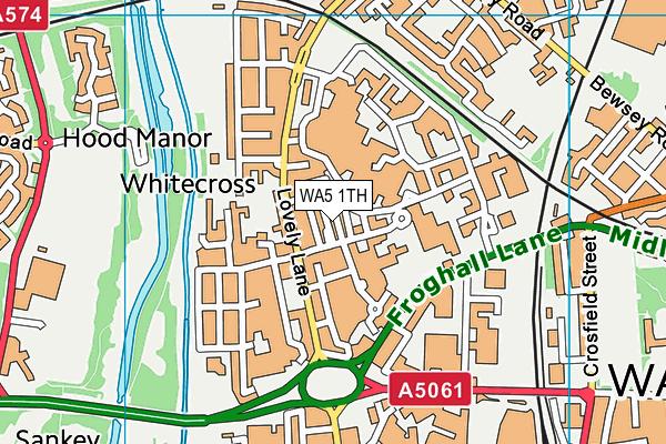 WA5 1TH map - OS VectorMap District (Ordnance Survey)