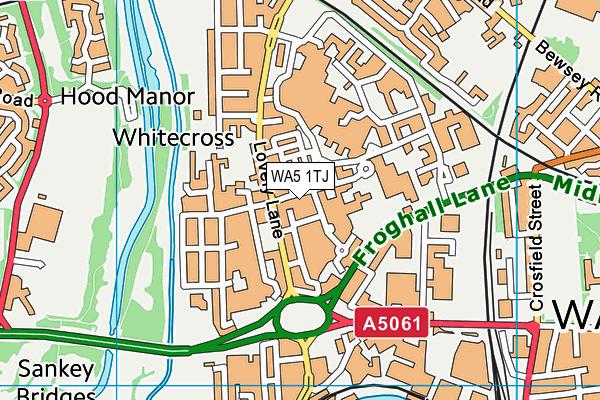 WA5 1TJ map - OS VectorMap District (Ordnance Survey)