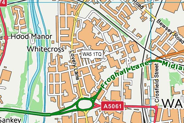 WA5 1TQ map - OS VectorMap District (Ordnance Survey)