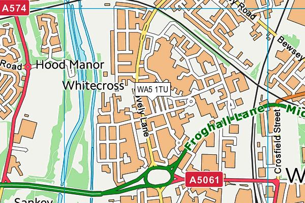 WA5 1TU map - OS VectorMap District (Ordnance Survey)