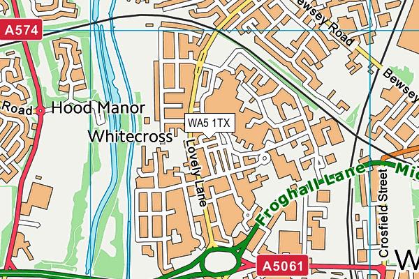 WA5 1TX map - OS VectorMap District (Ordnance Survey)