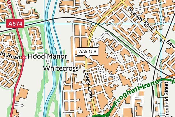 WA5 1UB map - OS VectorMap District (Ordnance Survey)