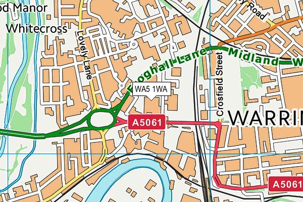 WA5 1WA map - OS VectorMap District (Ordnance Survey)