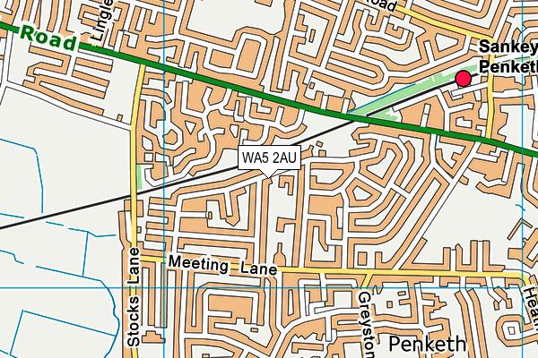 St Joseph's Catholic Primary School map (WA5 2AU) - OS VectorMap District (Ordnance Survey)