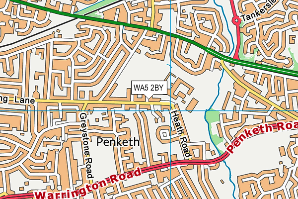 Penketh High School map (WA5 2BY) - OS VectorMap District (Ordnance Survey)