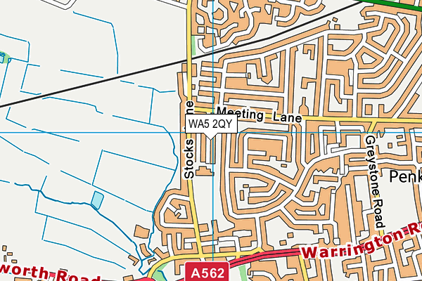 Penketh Primary School map (WA5 2QY) - OS VectorMap District (Ordnance Survey)