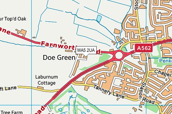 Doe Green Recreation Ground map (WA5 2UA) - OS VectorMap District (Ordnance Survey)