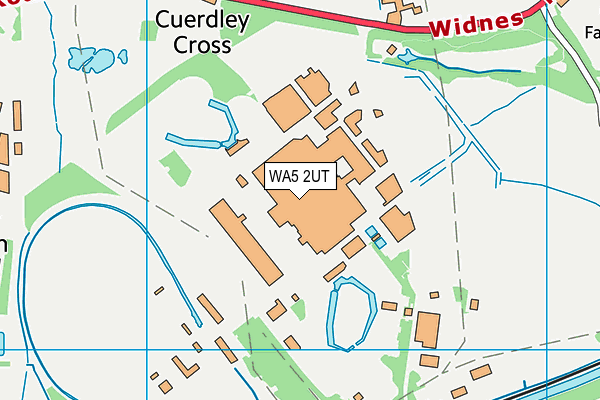Fiddlers Ferry map (WA5 2UT) - OS VectorMap District (Ordnance Survey)