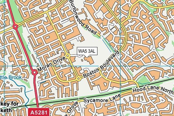 Chapelford Village Primary School map (WA5 3AL) - OS VectorMap District (Ordnance Survey)