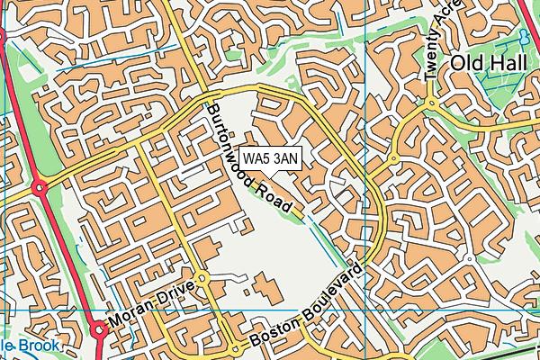 WA5 3AN map - OS VectorMap District (Ordnance Survey)