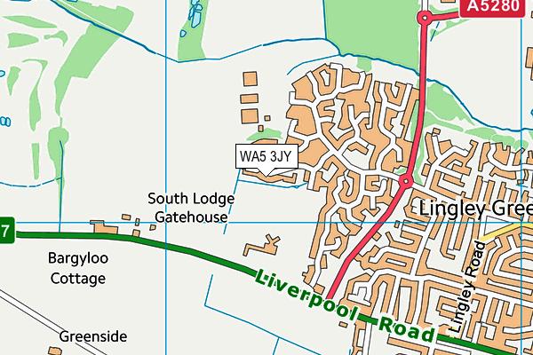 WA5 3JY map - OS VectorMap District (Ordnance Survey)