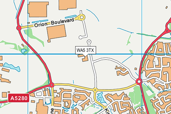 Barrow Hall Community Primary School map (WA5 3TX) - OS VectorMap District (Ordnance Survey)