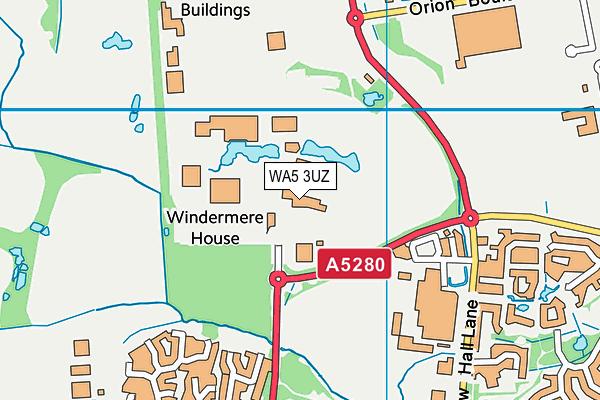 Great Sankey Parish Council Playing Fields map (WA5 3UZ) - OS VectorMap District (Ordnance Survey)