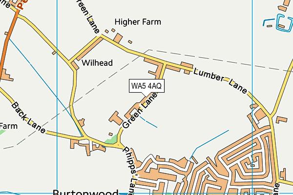 Burtonwood Community Primary School map (WA5 4AQ) - OS VectorMap District (Ordnance Survey)