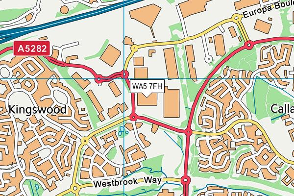 WA5 7FH map - OS VectorMap District (Ordnance Survey)