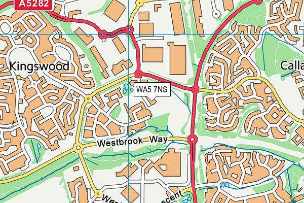 WA5 7NS map - OS VectorMap District (Ordnance Survey)