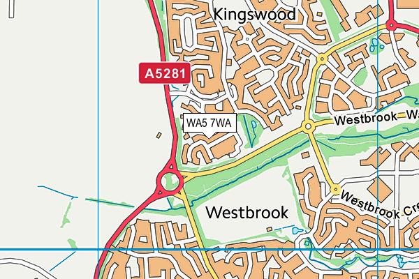WA5 7WA map - OS VectorMap District (Ordnance Survey)