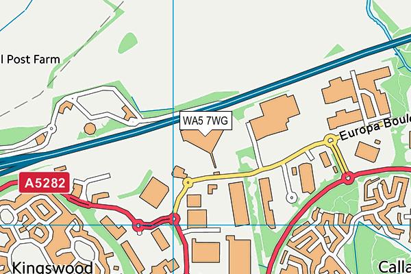 WA5 7WG map - OS VectorMap District (Ordnance Survey)