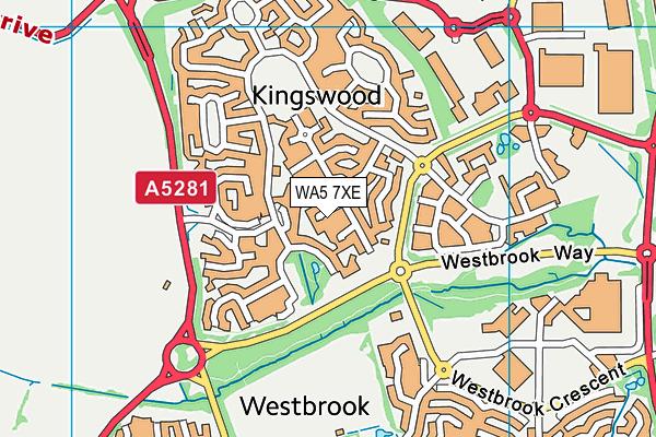 WA5 7XE map - OS VectorMap District (Ordnance Survey)