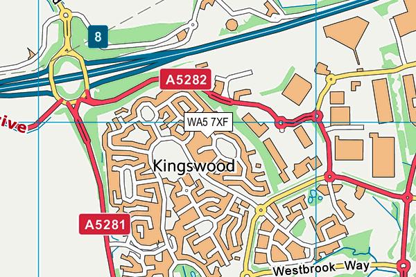 WA5 7XF map - OS VectorMap District (Ordnance Survey)