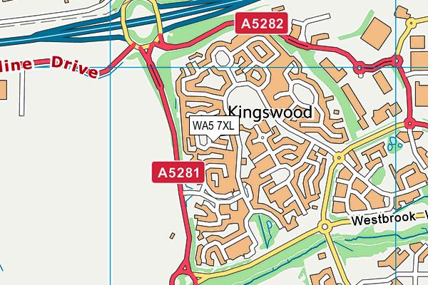 WA5 7XL map - OS VectorMap District (Ordnance Survey)