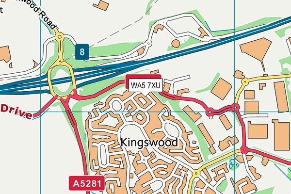 WA5 7XU map - OS VectorMap District (Ordnance Survey)