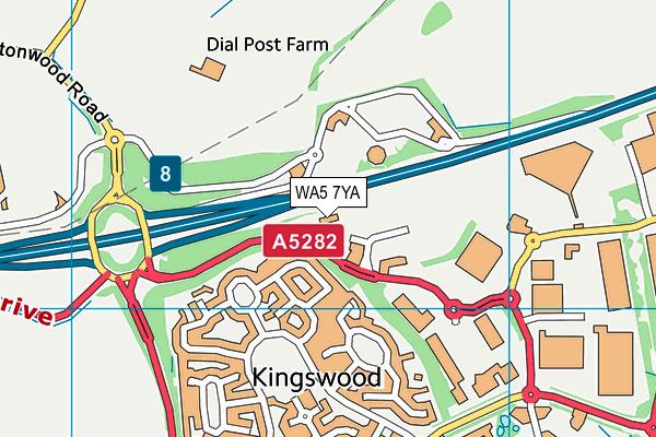 Athelis map (WA5 7YA) - OS VectorMap District (Ordnance Survey)