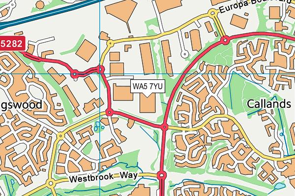 WA5 7YU map - OS VectorMap District (Ordnance Survey)