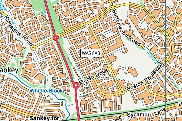 WA5 8AB map - OS VectorMap District (Ordnance Survey)