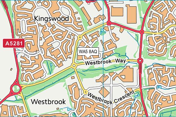 WA5 8AQ map - OS VectorMap District (Ordnance Survey)