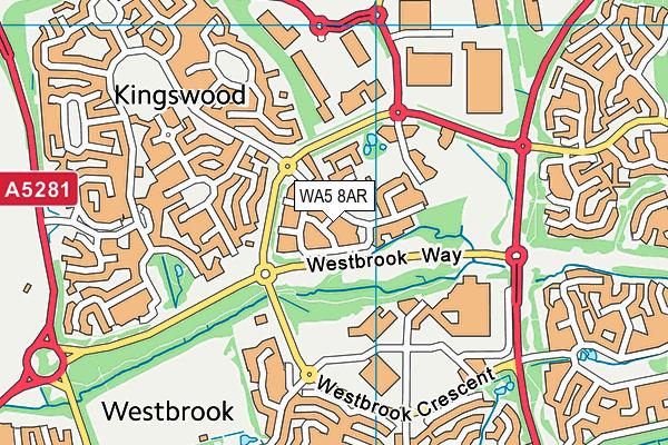 WA5 8AR map - OS VectorMap District (Ordnance Survey)