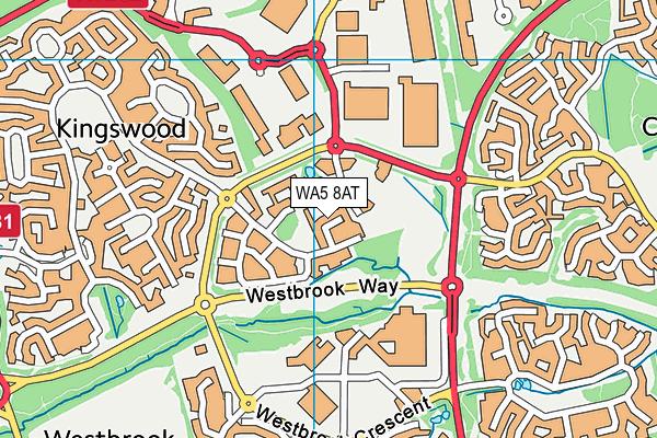 WA5 8AT map - OS VectorMap District (Ordnance Survey)