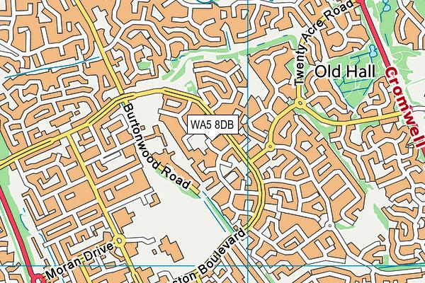 WA5 8DB map - OS VectorMap District (Ordnance Survey)