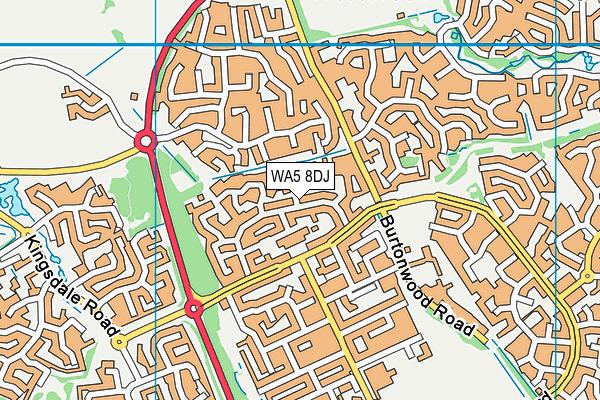WA5 8DJ map - OS VectorMap District (Ordnance Survey)