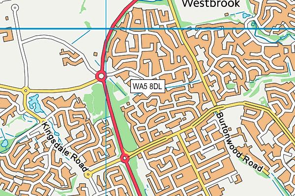 WA5 8DL map - OS VectorMap District (Ordnance Survey)